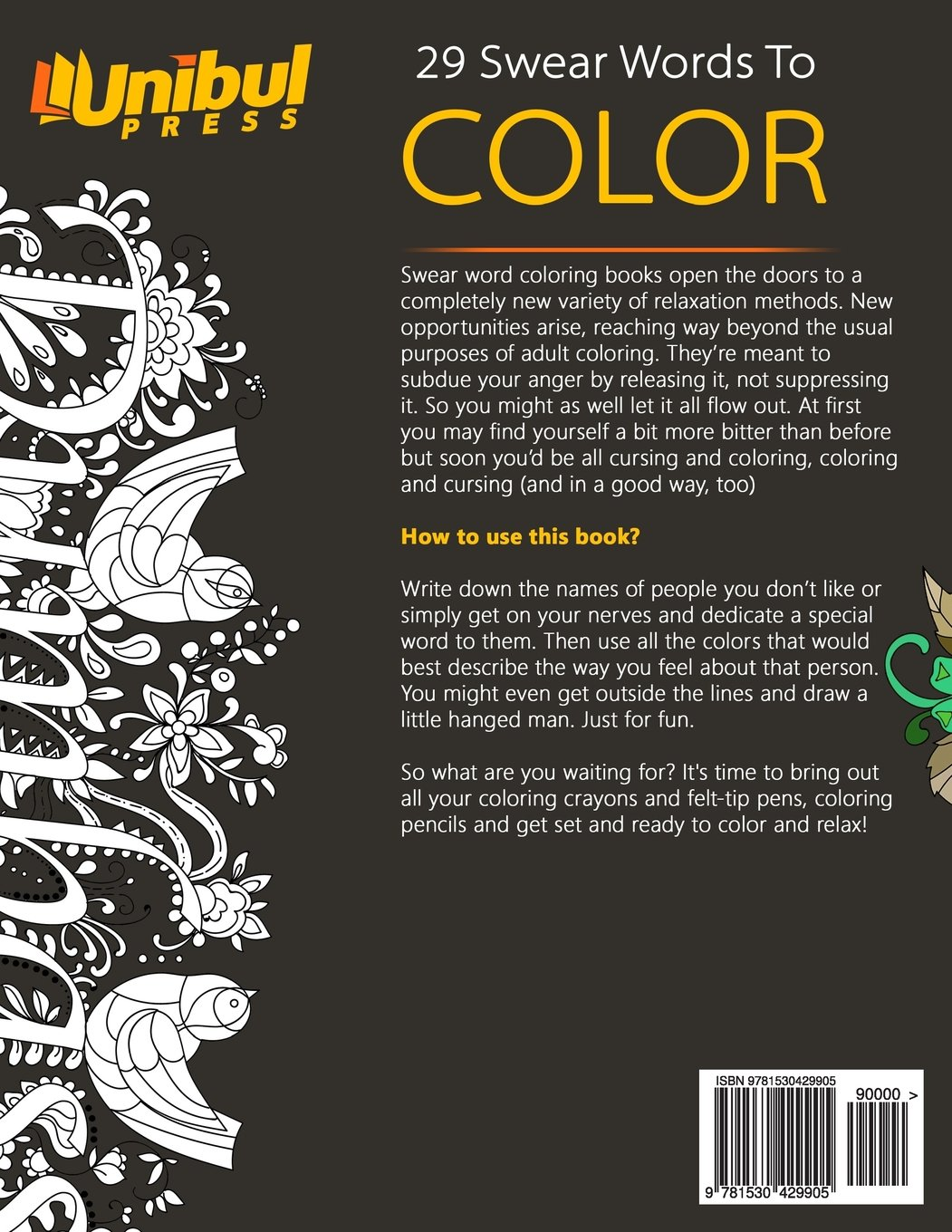 Fancy swear words coloring book - Amazon Com Swear Word Adult Coloring Book Stress Relief Coloring Book With Sweary Words Animals And Flowers Unibul Press Coloring Books Volume 2