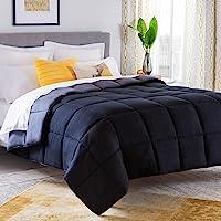 Linenspa LS70TXBKGRMICO Reversible Down Alternative Quilted Comforter, Twin XL, Black/Graphite