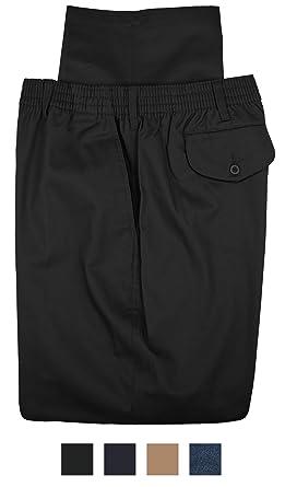 d30632b3283 Falcon Bay Big   Tall Men s Casual Twill Pants Full Elastic Black 42 X ...