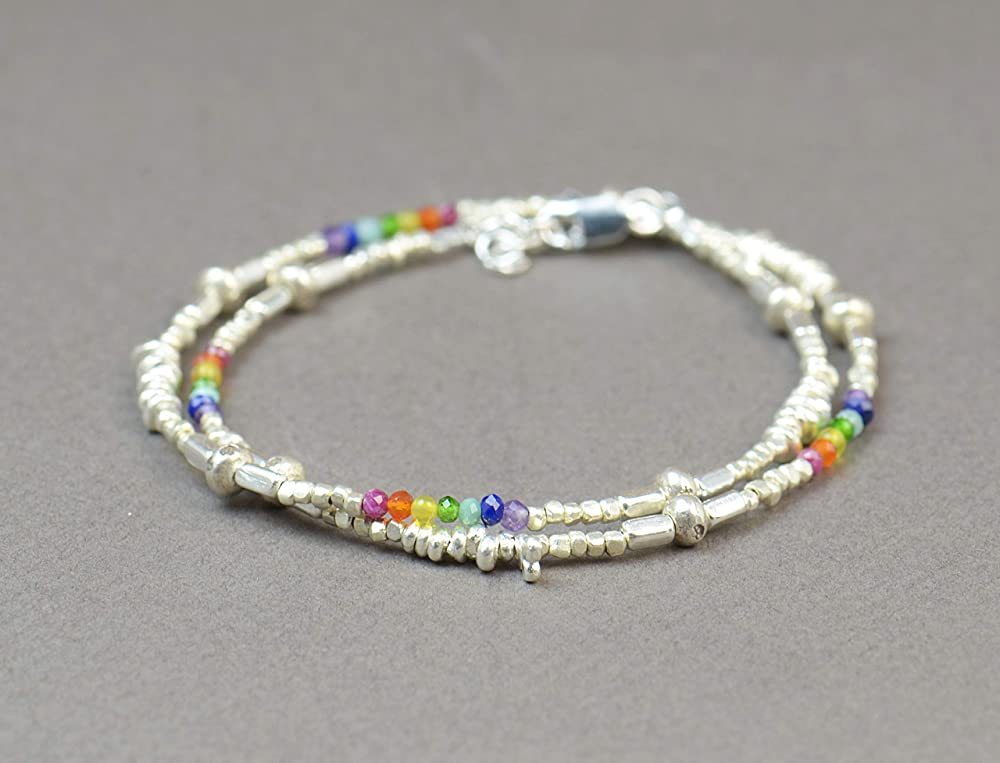Carnelian bracelet hammered bracelet natural stone jewelry sterling silver bracelet