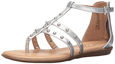 f01c206341df Aerosoles Women s Social Chlub Gladiator Sandal Silver 5 ...