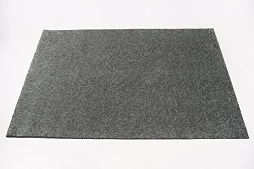 Soft Contemporary Solid Grey Bound Loop Carpet Area Rug – 3 x5