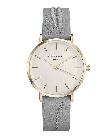 Rosefield City Bloom Cuarzo - Reloj (Reloj de pulsera, Femenino, Oro, Cuero