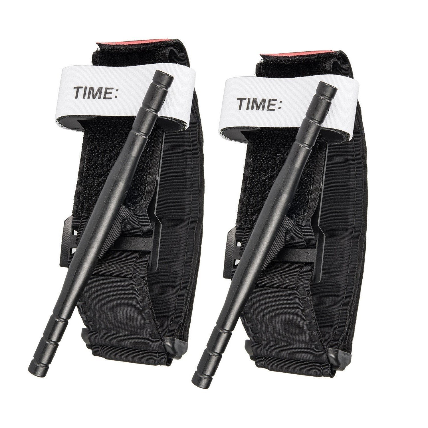 Tourniquets - Combat Military Medical Emergency Hiking Application, First Aid Medical Supplies, Rapid One Hand Application l Features Windlass & Time Stamp (2 Pack)
