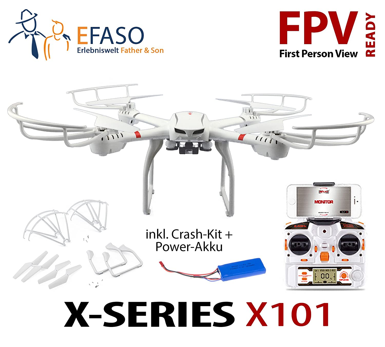 efaso Quadcopter MJX X101 dron sin cámara - FPV Ready con One Key ...