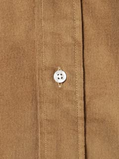 Corduroy Club Collar Shirt 111-18-0075: Beige