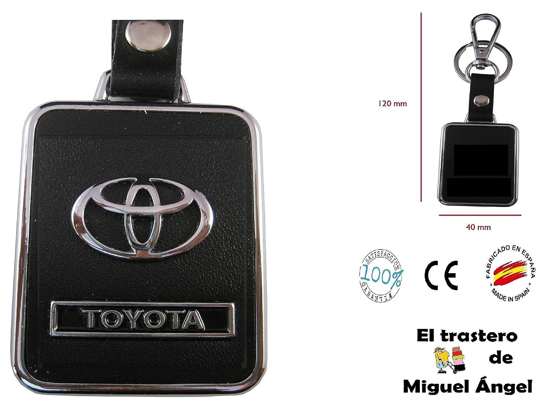 ETMA Llavero cuero y metal Toyota