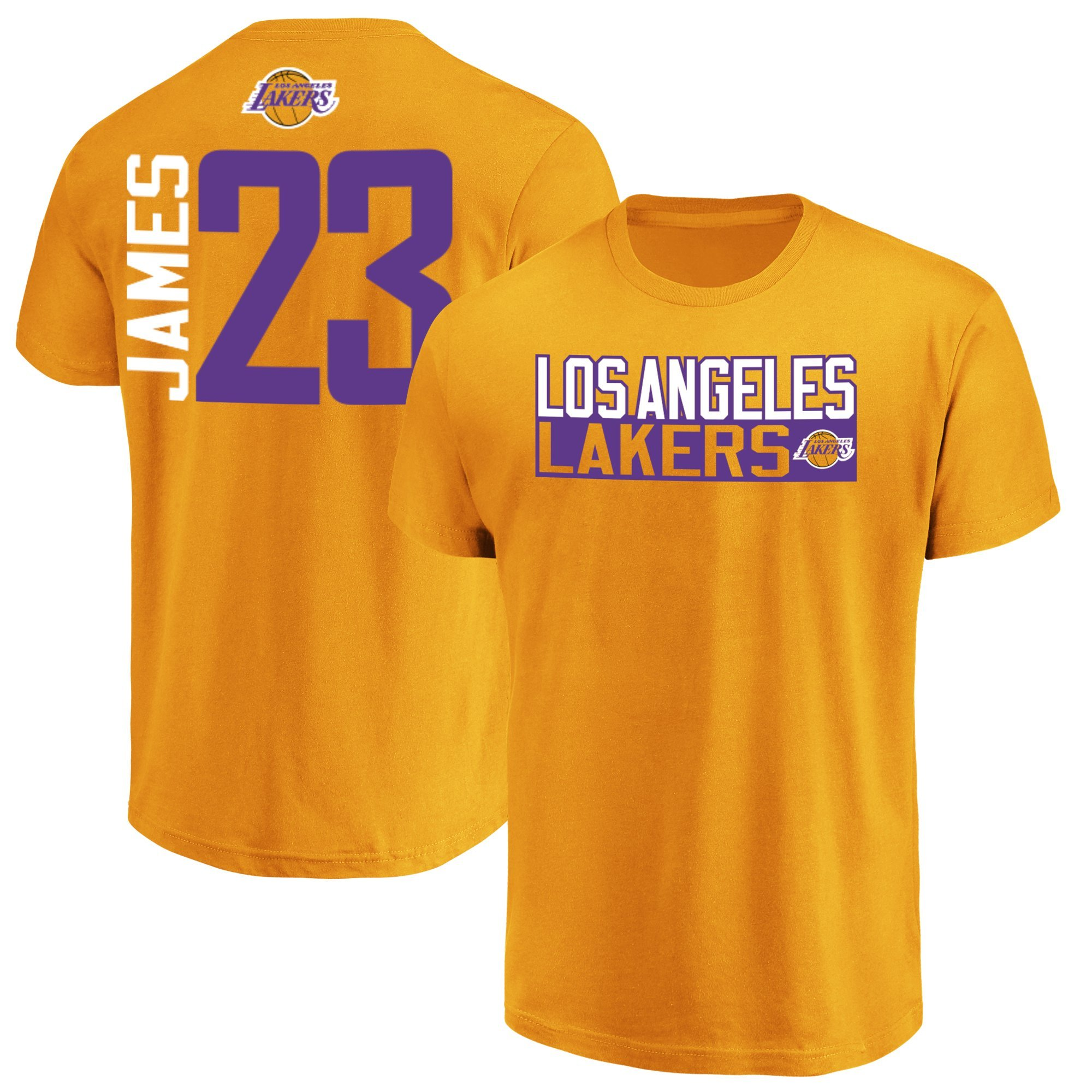 9f1f42f1a Majestic Lebron James Los Angeles Lakers  23 Men s Vertical Player T-Shirt