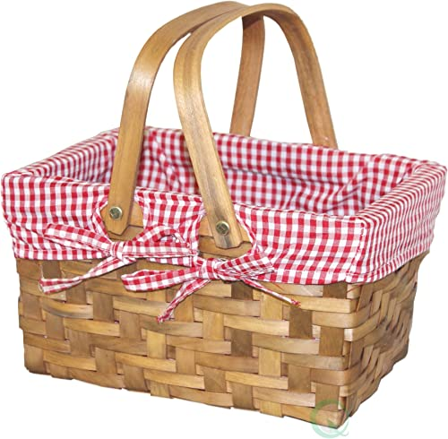Vintiquewise QI003085x36 Rectangular Basket Gingham Lining, Small 36 , Pack of 36