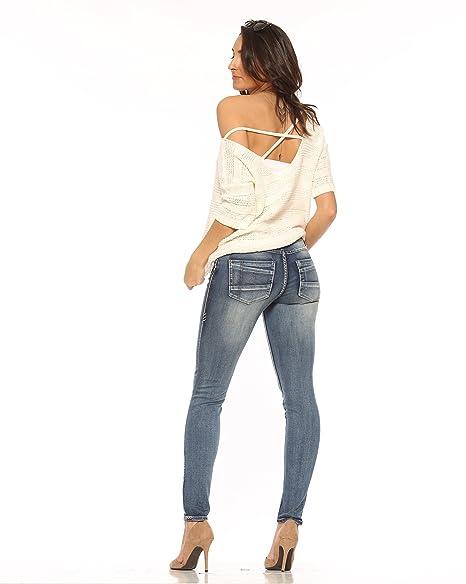 Amazon.com: Rubberband elástico para mujer jeans ajustados ...