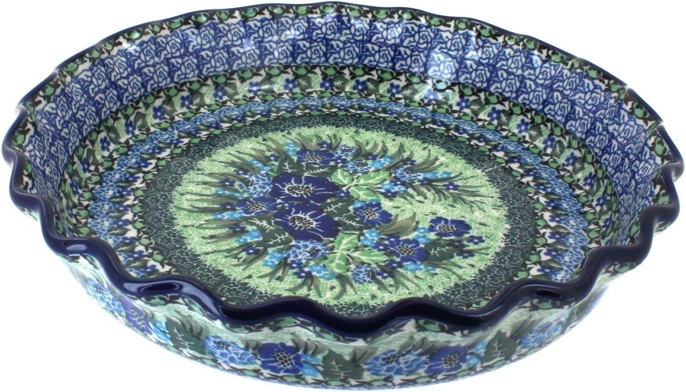 Blue Rose Polish Pottery Joanna Pie Plate