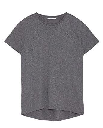 42dbf4d9c1d9 Zara Women's Basic Asymmetrical t-Shirt 4174/025 Blue: Amazon.co.uk ...