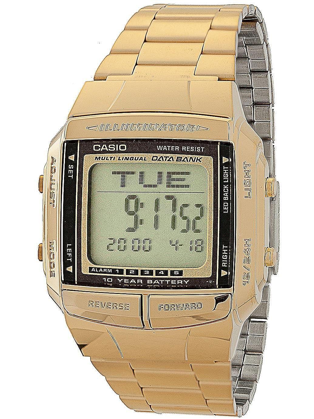 DB360G 1D Casio Gold & Black Digital Watch Gold One Size
