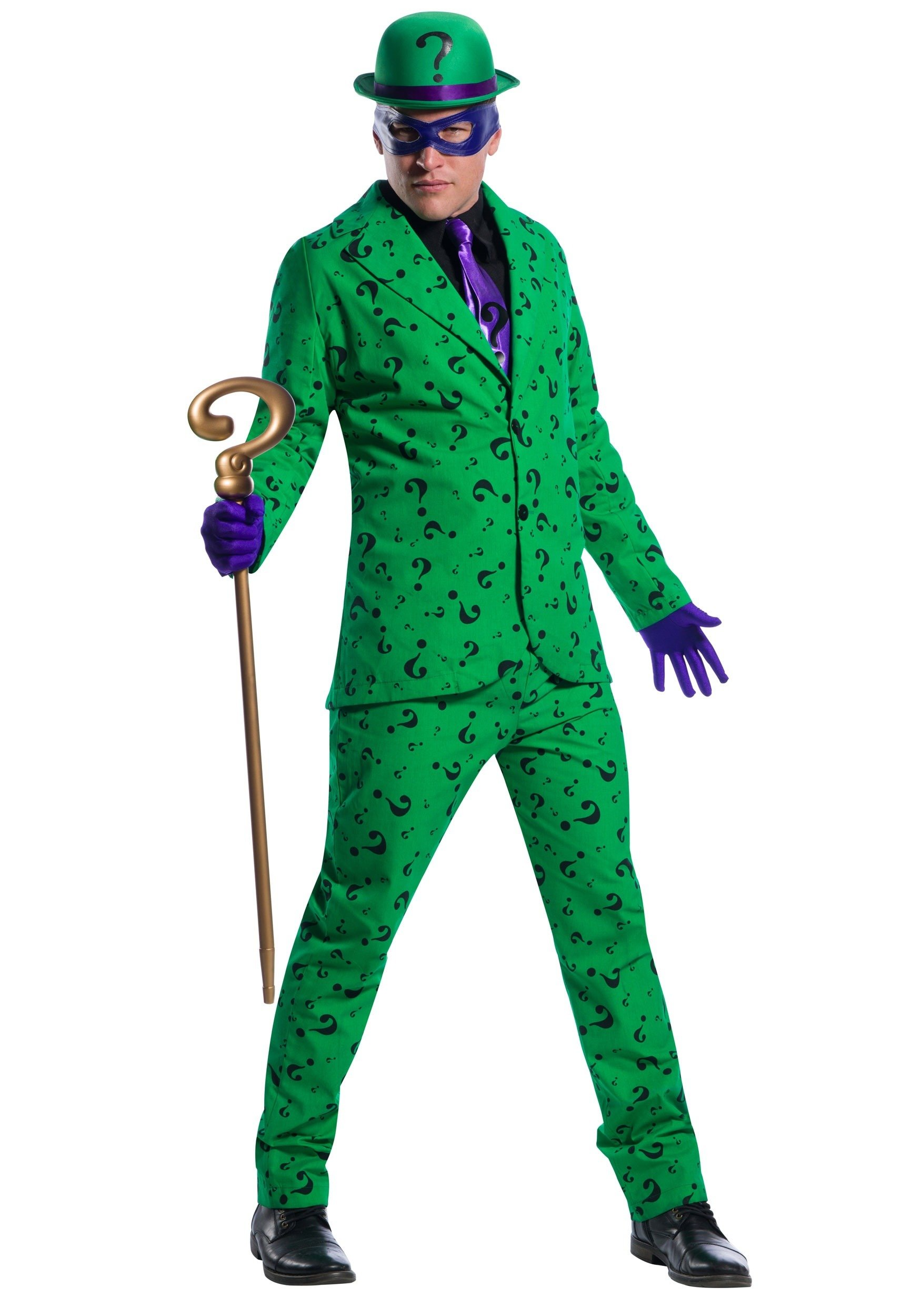 Charades Men's Riddler Costume Medium