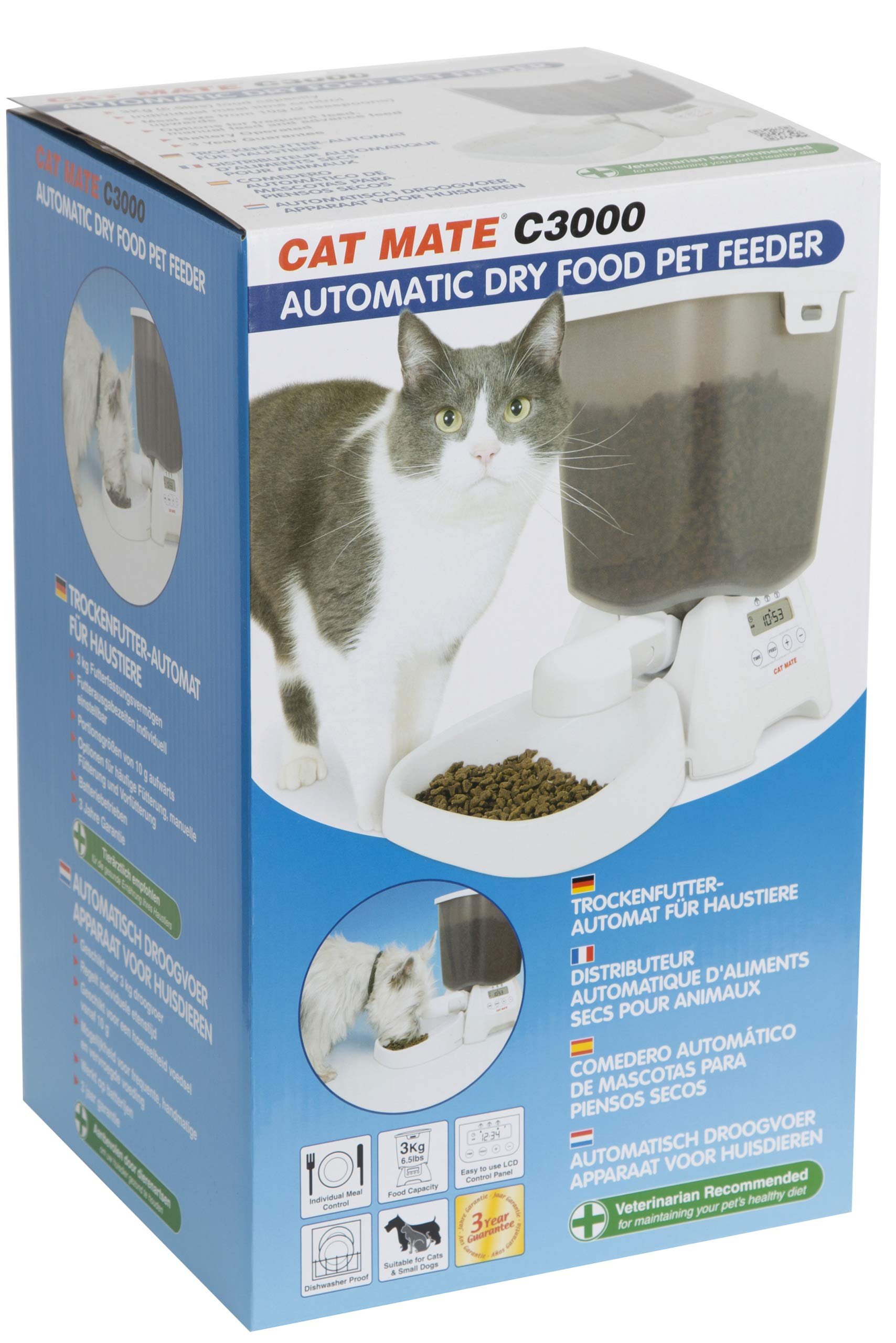 Cat Mate C3000 Automatic Dry Food Pet Feeder by Cat Mate