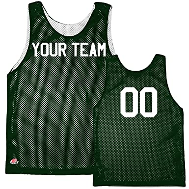 7be4209de Amazon.com: Basic Reversible Custom Basketball Jersey with Team Name ...