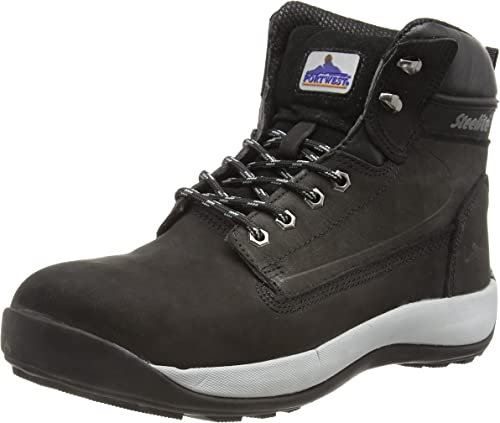 Black Safety Boots Portwest Mens ground Work boot Steel toe cap /& midsole FW03