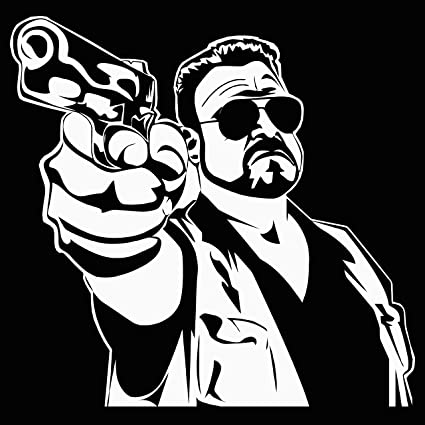 Big lebowski walter white vinyl sticker the dude decal 8 tall car