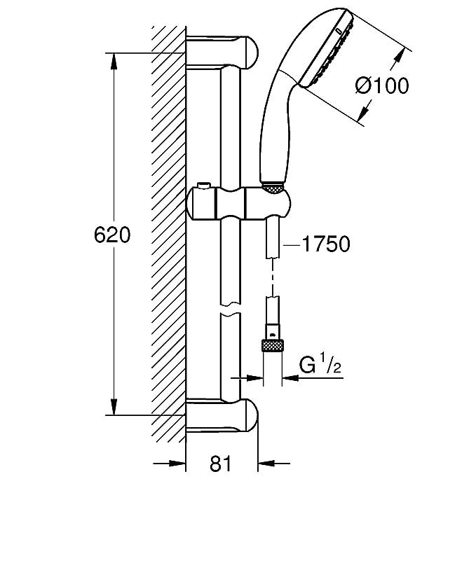 Grohe Tempesta - Sistema de ducha 600 mm Ref. 27598000: Amazon.es: Bricolaje y herramientas