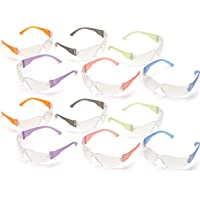 Pyramex 12 pack Safety Glasses, safety goggles, Scratch, Impact, and Ballistic Resistant, clear lens, 12 Pack