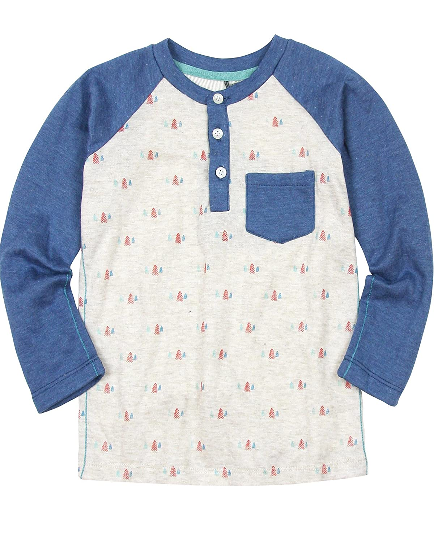 Sizes 18M-6 Deux par Deux Boys Blue Henley T-shirt Whistle Punk