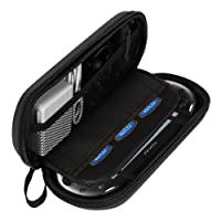 AKWOX Waterproof Travel Carrying Protectove Case for PS Vita 1000, PSV 2000 with 8 Game Holders (Black)