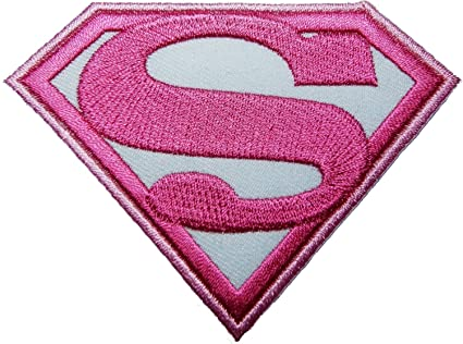 Superwoman pink patch Iron on Logo Vest Jacket cap Hoodie Backpack Patch Iron On/sew