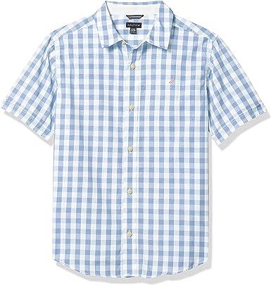 Nautica - Camisa de manga corta para niño: Amazon.es: Ropa y ...