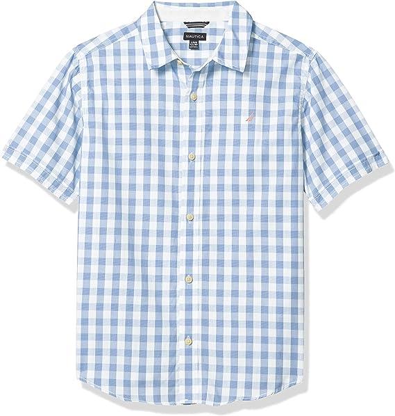 Nautica - Camisa de manga corta para niño: Amazon.es: Ropa y accesorios