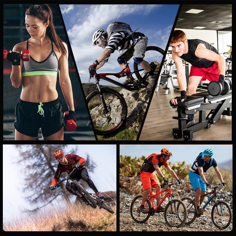 ENONEO Guantes Bicicleta Monta/ña Gel Hombre Mujer Guantes Ciclismo Dedo Medio Transpirable Antideslizante Guantes MTB Cortos para Motocicleta Ciclismo Escalar Senderismo Fitness