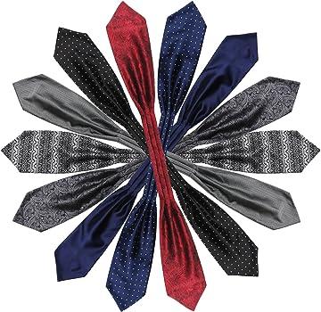 Segbeauty® Corbata de Ascot, 7pcs Corbata Ties para Hombre Ascot ...