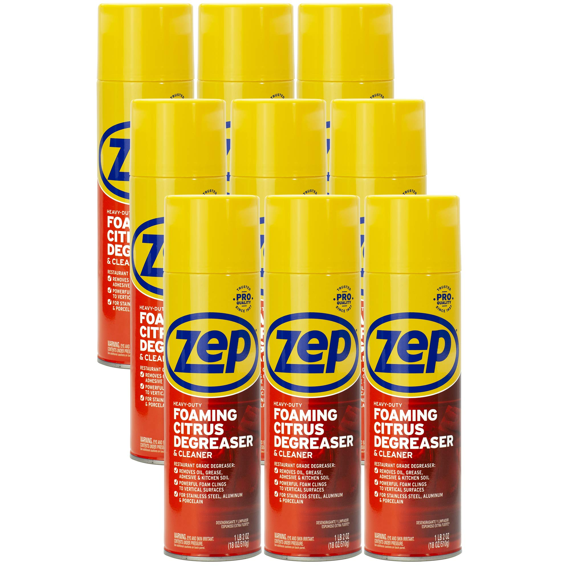 Zep Heavy-Duty Foaming Degreaser 18 ounce ZUHFD18 (Case of 12)