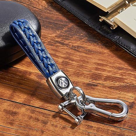 FancyAuto Llavero de Coche Llavero de Cuero de Llavero de Llavero para Volkswagen VW, Azul