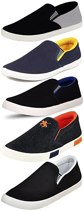 design intemporel 89bce 043c0 Ethics Perfect Combo Pack Of 5 Loafer Shoes For Men- Multicolour