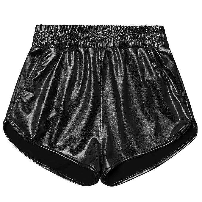 Amazon.com: Pantalones cortos para mujer, cintura elástica ...