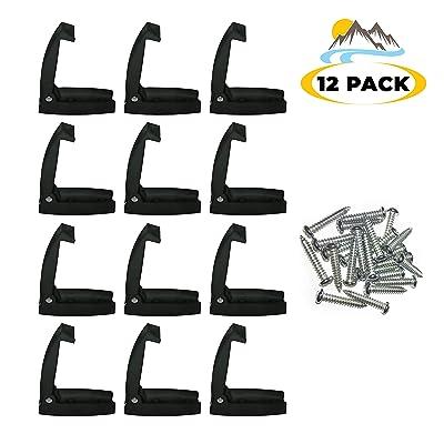 Camp'N -12 Pack- Baggage Door Catch - Clip - Holder - for RV, Trailer, Camper, Motor Home Baggage Doors (Black): Automotive