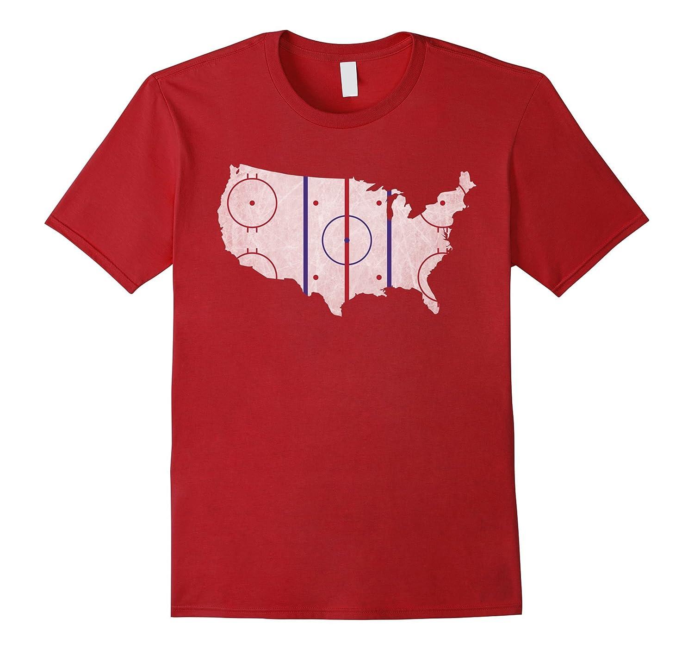 American hockey pride usa map design t shirt goatstee for T shirt design usa