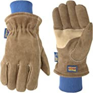 Wells Lamont 1196M Insulated Suede HydraHyde Leather Work Gloves, Medium