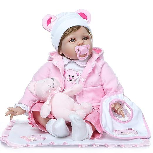 Amazon.com: ZIYIUI Muñeca de bebé reborn de 22.0 in hecha a ...