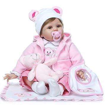 Amazon.es: ZIYIUI Reborn 22 Pulgadas 55 cm Muñecas bebé Realista ...