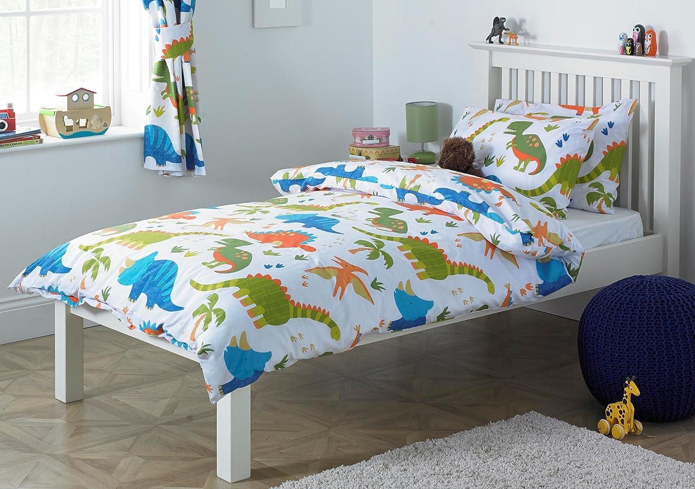 Childrens Dinosaur Single Duvet Cover Bed Set Inc Pillowcase