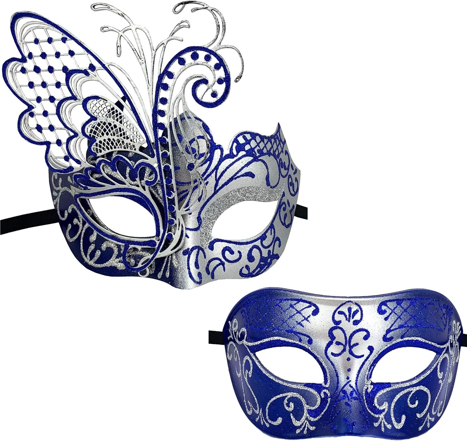 Blue//Black Flying Butterfly Venetian Women Mask For Masquerade//Party