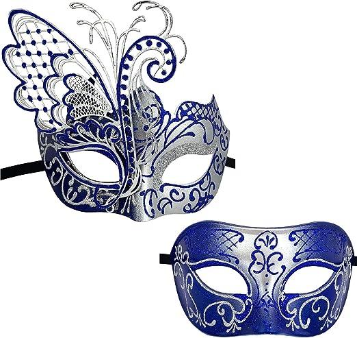 Xvevina Máscara veneciana de lujo para disfraz, disfraz, baile de ...