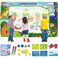 SPLAKS Water Doodle Mat, 150X100cm Water Drawing Mat Extra Large Mess Free Water Magic Mat Educational Colouring…