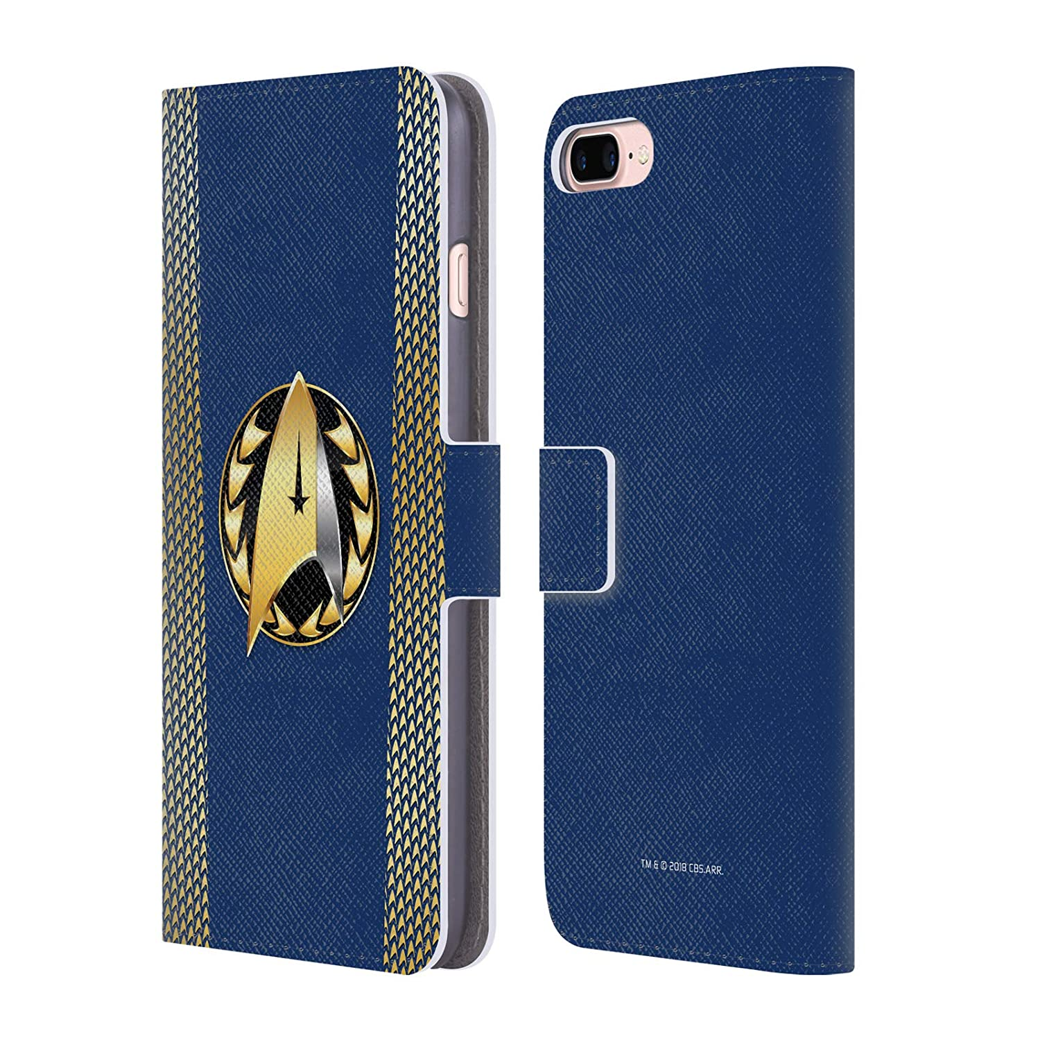 Official Star Trek Discovery Admiral Badge Uniforms Leather Book Wallet Case Cover for iPhone 7 Plus/iPhone 8 Plus