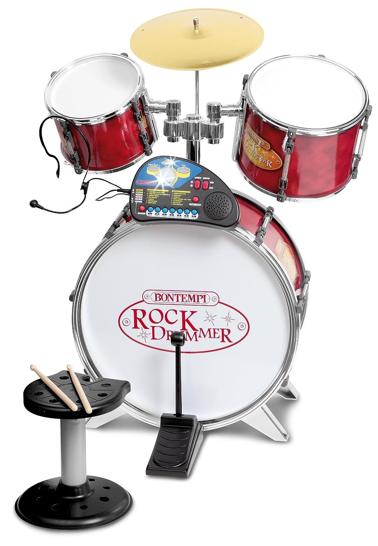 Bontempi 52 6850 Metallic Silver Drum Set with Electronic Tutor (4-Piece)   B01MZ1DPK4