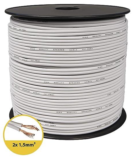 Box Cable//Cable de Audio 10/m toolcity Cable de Altavoz Color Blanco Zwilling Litz 2/x 2,50/mm/²