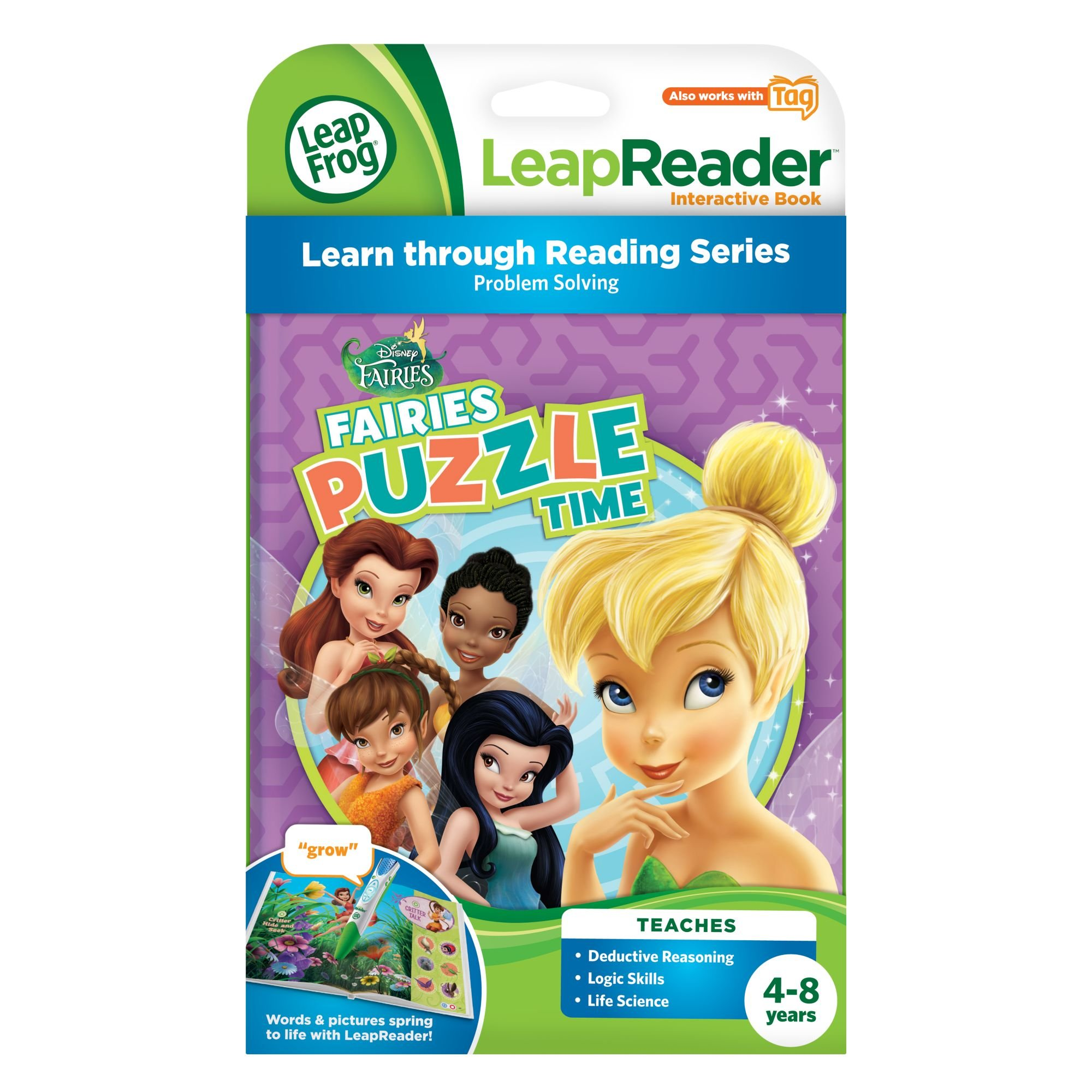LeapFrog LeapReader Book: Disney Fairies Puzzle Time (works with Tag) by LeapFrog (Image #3)