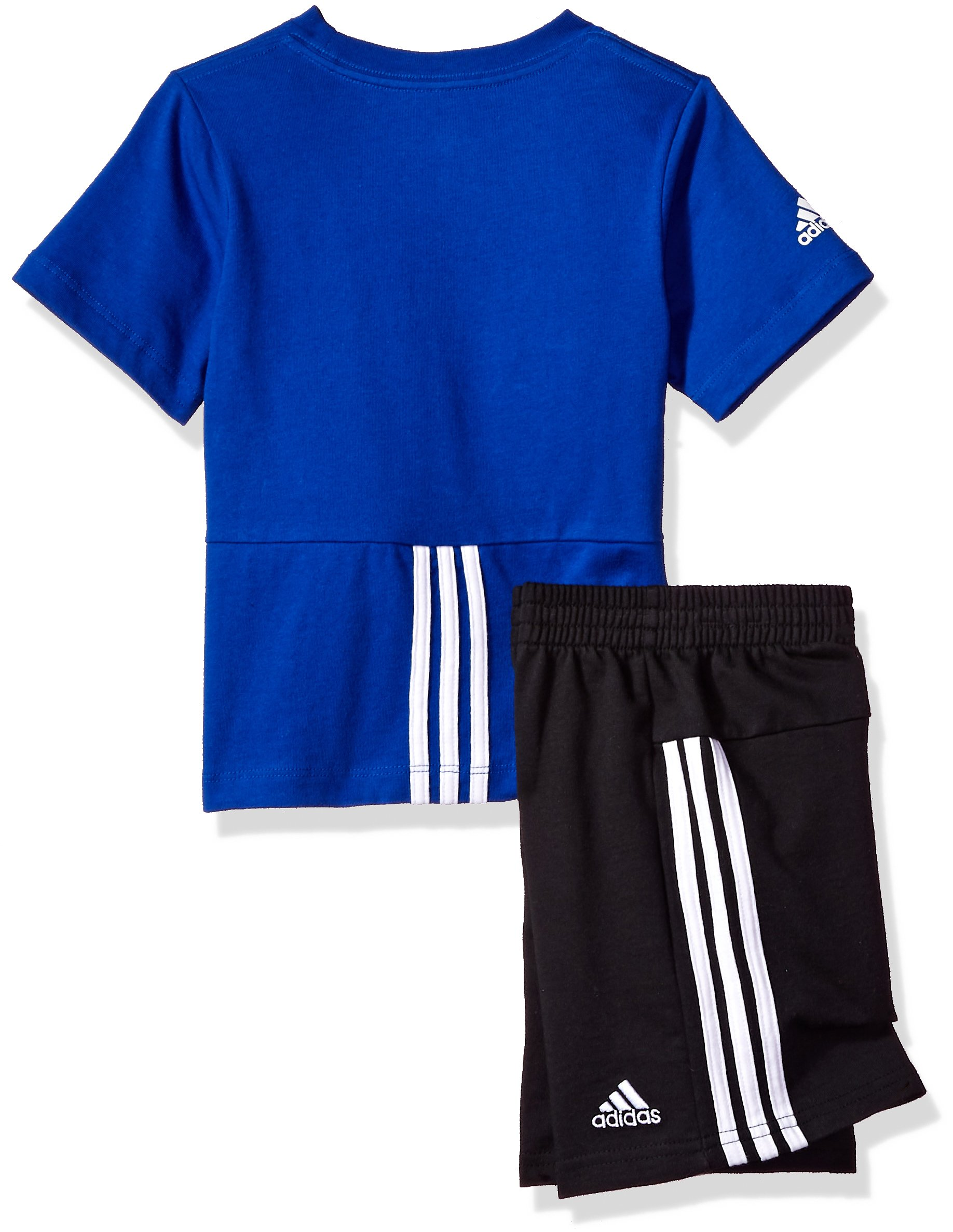 adidas Baby Boys Short Sleeve Tee and Short Set, Collegiate Royal, 18M by adidas (Image #2)