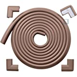 Roving Cove 16.2 ft [15ft Edge + 4 Corners] Safe Edge and Corner Cushion – PRE-TAPED CORNERS - COFFEE Premium Childproofing Guard Child Home Furniture Safety Bumper Baby Proof Table Protector
